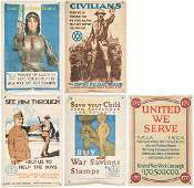 5 WWI U.S. Propaganda posters, Group #2