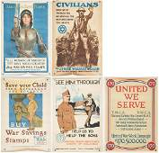 5 WWI U.S. Propaganda Posters, Group #1
