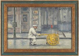 Clyde Singer O/B Painting, Street Cleaner