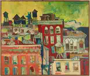 Jon Carsman Acrylic Cityscape Painting, Watchtowers