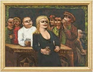 Albert Pels O/B, Figures in a Bar