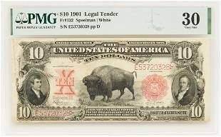 """1901 $10 """"Bison"""" Legal Tender Note, FR # 122"""