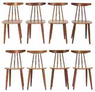 8 Danish Modern Teak Chairs by Frem Rojle