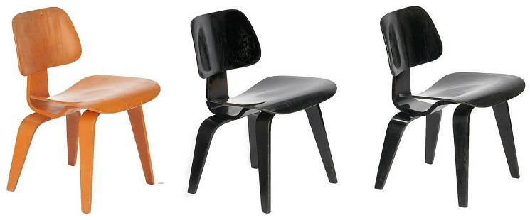 3 Eames Mid Century DCW Chairs