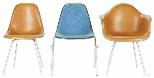 3 Eames for Herman Miller Shell Chairs
