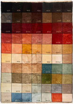 Pantone Color Chart Rug