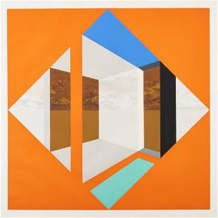James Twitty Cubist Screenprint, Arlington