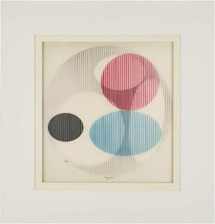 Yaacov Agam Kinetic Art Agamograph, Triple Galaxy