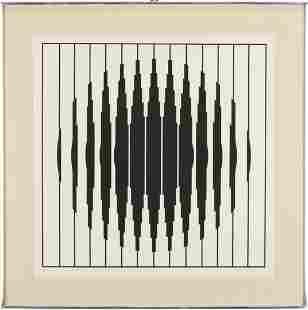 Victor Vasarely Modern Op art Screenprint, Bora D