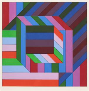 """Victor Vasarely Screenprint, """"Untitled,"""" 127/150"""