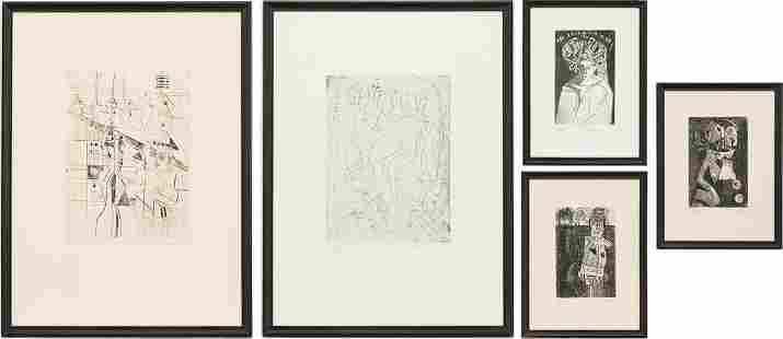 5 Nahum Tschacbasov Cubo-Surrealistic Etchings
