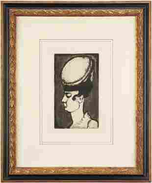 Georges Rouault Etching, Mademoiselle Irma