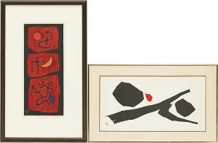 2 Framed Haku Maki Signed Prints