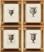 4 Roman Vase Engravings