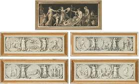 5 Neoclassical Prints, incl. 4 After Appiani, Napoleon