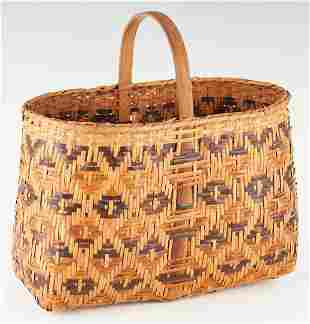 Native American Cherokee Rivercane Basket