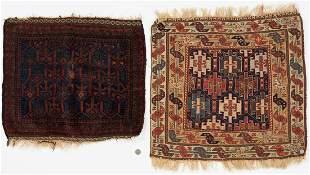 Soumak Bag Face & Baluchi Bag Face, 2 items