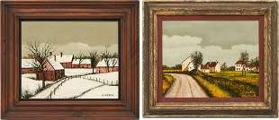 2 Luciana Parsini O/C, Landscape Paintings