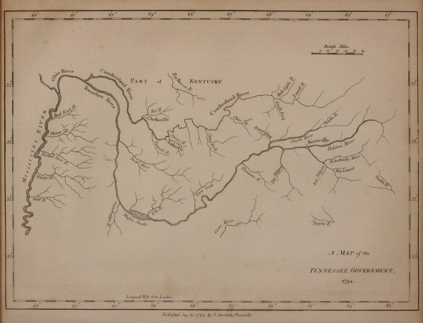7: 1794 Map of Tennessee