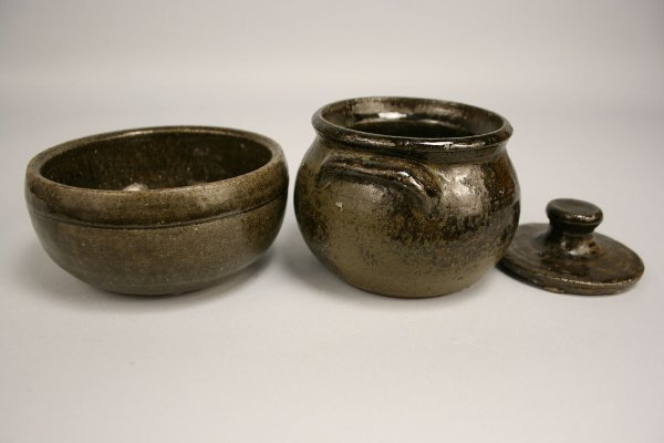 84: Lanier Meaders Pottery Bean pot and Bowl - 3