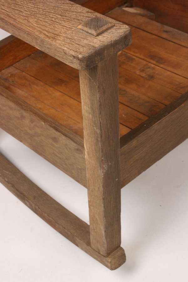 102: Stickley Quaint  oak Rocker - 2