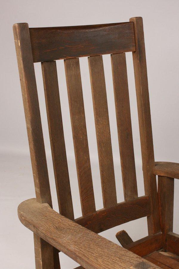 102: Stickley Quaint  oak Rocker - 3