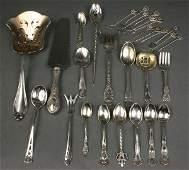 402: 29 pcs misc sterling silver flatware