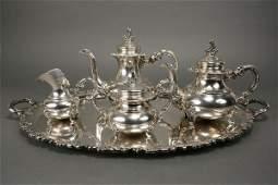 406 Sterling silver 4 pc tea service AltHeidelberg