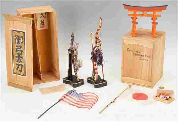 6 Pre WWII Japanese Presentation Items, incl. Miniature