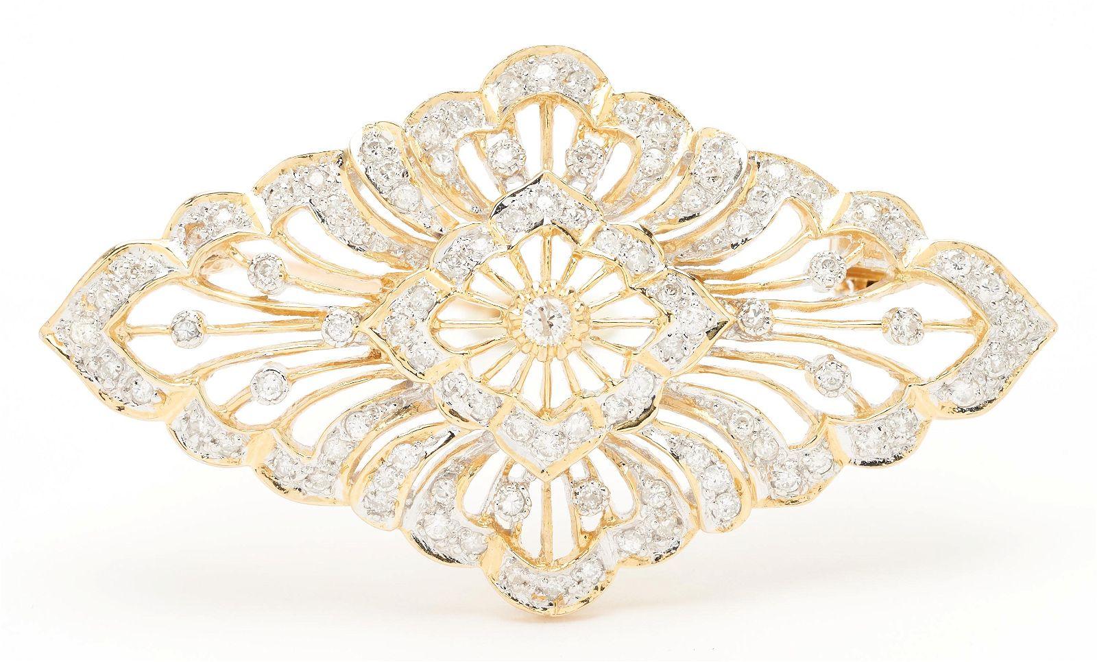 18K Diamond Brooch