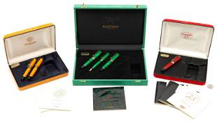 6 Aurora Writing Instruments, incl. Fountain Pens w/