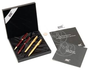 4 Montblanc Meisterstuck Writing Instruments, incl.