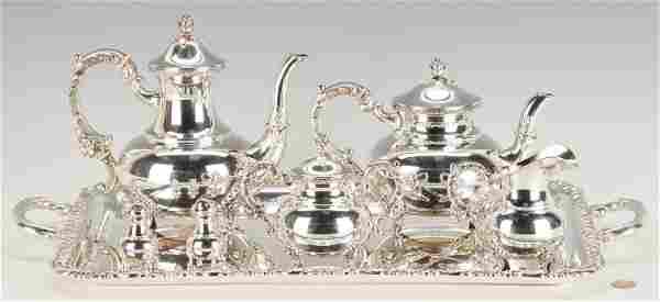 Emil Hermann Sterling Silver Tea Set plus shakers,