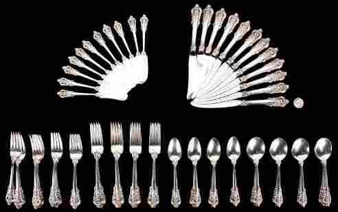 71 Pcs. Wallace Grand Baroque Sterling Silver Flatware