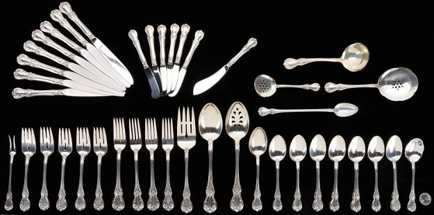 63 Pcs. Towle Old Master Sterling Silver Flatware
