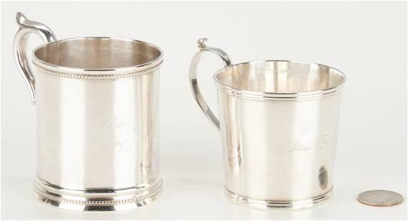 2 KY Coin Silver Mugs: H. Fletcher and R.E. Smith
