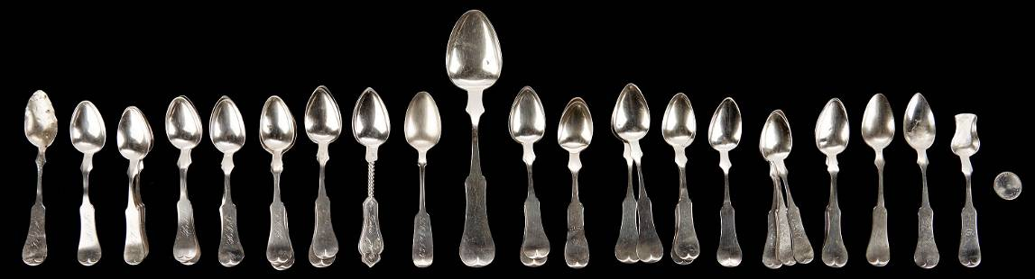 34 Pcs. Sterling & Coin Silver, Bowling Green &