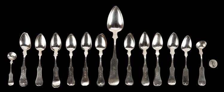 25 Coin Silver Items, KY & OH, Asmann & Evans