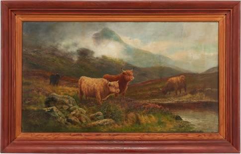 Daniel Sherrin the Elder O/C, Highland Cattle