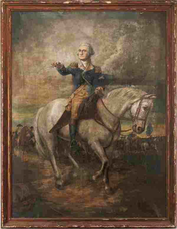 Large George Washington O/C Portrait, after John Faed
