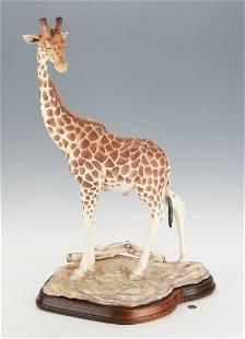 Boehm Male Giraffe Porcelain Figure