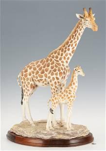 Boehm Mother & Calf Giraffe Porcelain Figure
