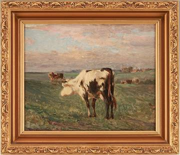 Ernest Whitehead O/C Painting of Cow