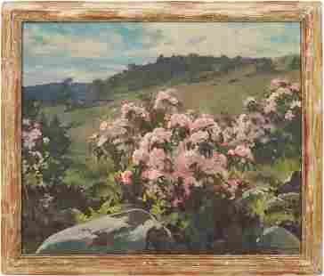 Harry Russell Ballinger O/C Painting, Litchield Hill
