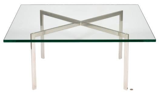 Miles van der Rohe Knoll Barcelona Glass Coffee Table,