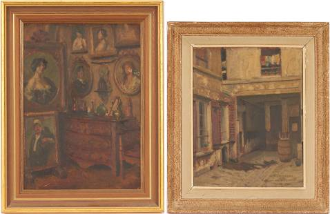 2 Jacques Weismann Oil Paintings, Interior and