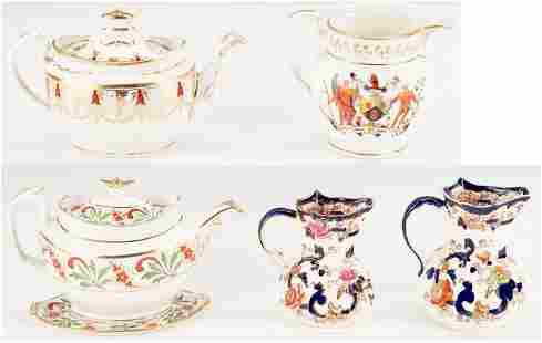 6 English Ceramic items including Soft Paste Porcelain