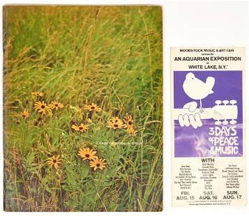 Woodstock Program & Brochure, 2 items