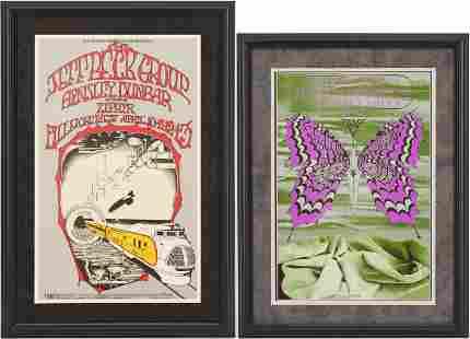 2 Rock Posters - Jeff Beck + Iron Butterfly/Velvet U