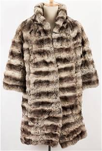Ladies Full Length Chinchilla Fur Coat